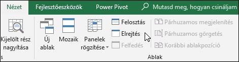 Munkafüzet elrejtése vagy megjelenítése a nézet > Windows > elrejtése/felfedése