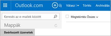 Így néz ki a menüszalag, ha Outlook.com- vagy Hotmail.com-fiókja van