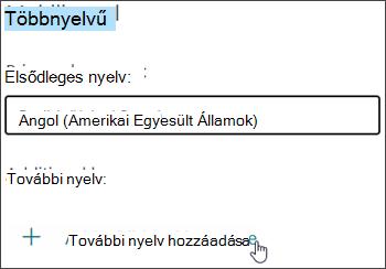 Nyelv hozzáadása