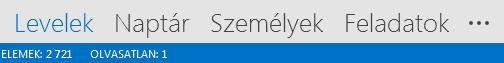A Személyek lap az Outlook képernyőjének alján látható.
