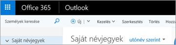 Így néz ki a Webes Outlook menüszalagja.