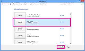 Beviteli mód hozzáadása a Windows 8-ban