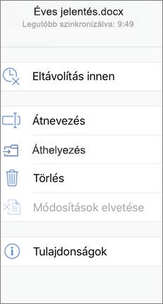 A mozgatható képernyő az áthelyezés paranccsal
