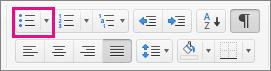 Kiemelt Felsorolás ikon a Kezdőlapon.