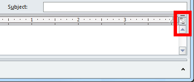 View Ruler command in a new message window