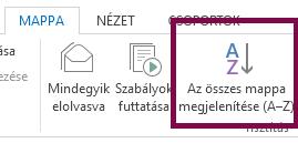 A mappákat ábécésorrendben Az összes mappa megjelenítése (A–Z) elemre kattintva rendezheti.