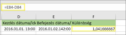 = E84-D84 és az 1,041666667 eredménye