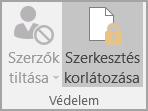 Dokumentumvédelmi beállítás