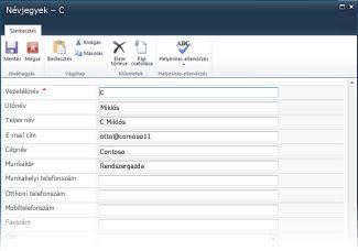 InfoPath-listaűrlapok a SharePoint szolgáltatáshoz