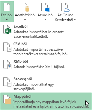 Power Query > Fájlból > Mappából lehetőség