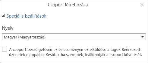 Csoportos e-mail küldése a felhasználók postaládájába