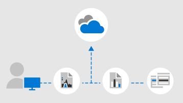 Tárolja a munkahelyi fájlokat a OneDrive-on.