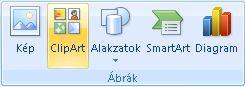 ClipArt-elem beszúrása