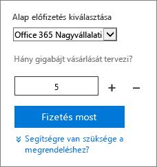 Bővítmény felhasználóilicenc-mennyiségének módosítása.