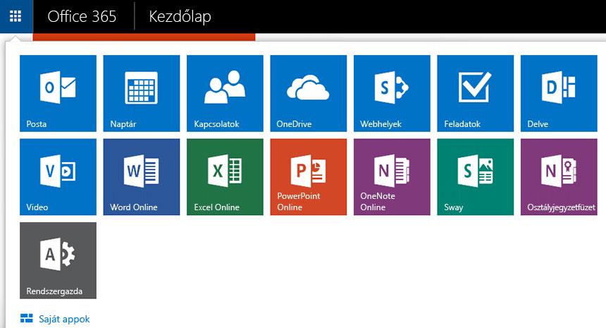 Képernyőkép az appindítóról