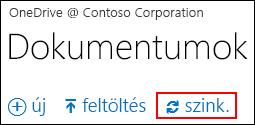 OneDrive Vállalati verzióbeli vagy webhelyen lévő tár szinkronizálása a számítógépen