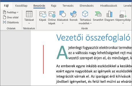 Office 365 Word – Képek, SmartArt-ábrák, diagramok