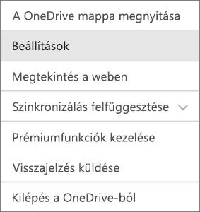A tevékenységközpont a Mac OneDrive-ban