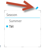 A Szűrő törlése ikon a Power View nézetben