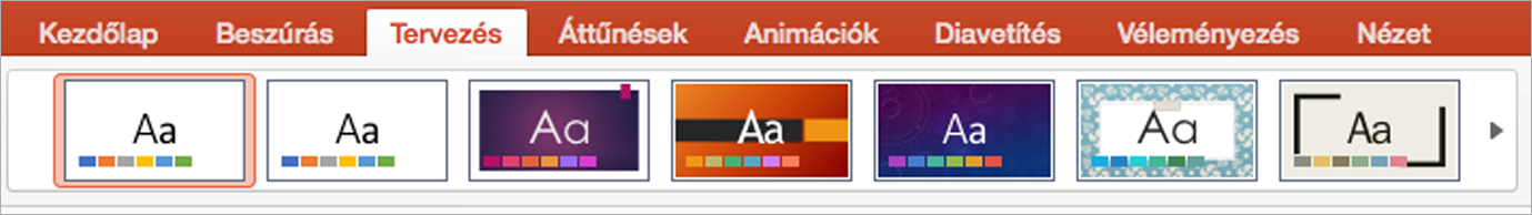 A Powerpoint for Mac-témák