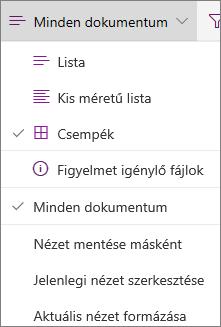 Office 365 – Dokumentumtár nézet módosítása