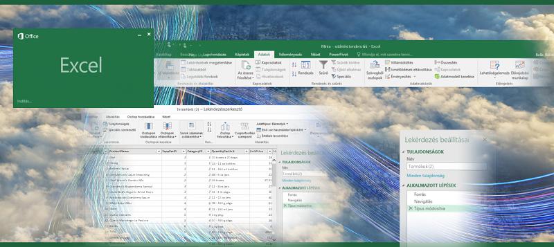 Lekérdezés az Excel 2016-ban
