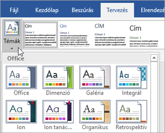 Office 365 Word – Témák