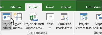 Projekt adatai