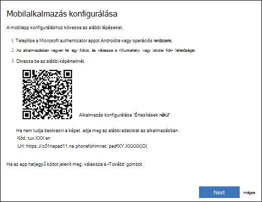A munkahelyi vagy iskolai fiók beállítása a Microsoft Authenticator alkalmazásban