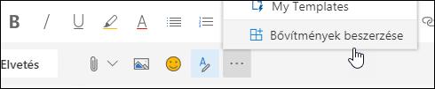 Képernyőkép: a Get-bővítmények gomb
