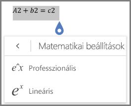 Matematikai egyenlet formátumok megjelenítő