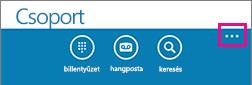Koppintson a képernyő alján lévő három pontra a további beállítások menüjének megnyitásához