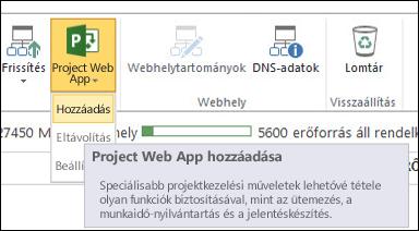 Project Web App > Hozzáadás