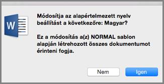 A Mac Office alapértelmezett nyelve