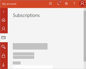 Képernyőkép a Saját fiók portálról