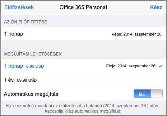 Az App Store áruház előfizetési lehetőségei