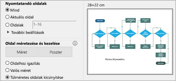 A PDF-nyomtatás párbeszédpanel