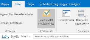 A Szűrt levelek funkció az Outlookban