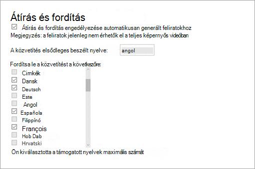 Valamint a fordítási engedélyezése