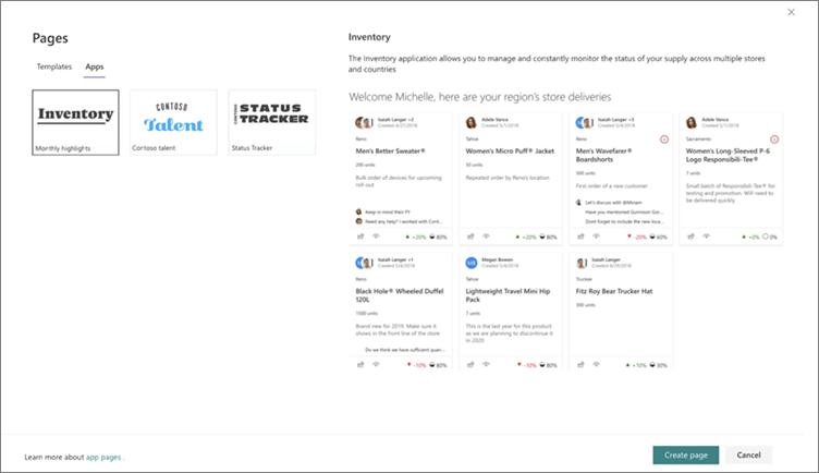 A teljes oldalas App alkalmazás kijelölése