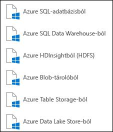 Adatok beolvasása a Microsoft Azure