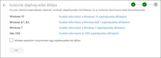 Képernyőkép a OneDrive webhely Rest-eszközök képernyőjéről