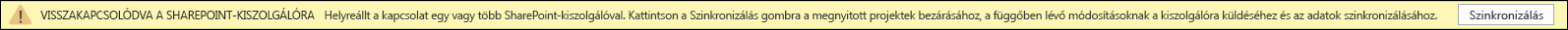 Kattintson a szinkronizálás a SharePoint Server csatlakozni.
