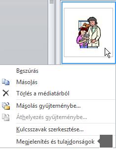 A Nyomtatási kép/Tulajdonságok parancsot használva megjelenítheti a kép nagyobb verzióját és több részletet a képről.