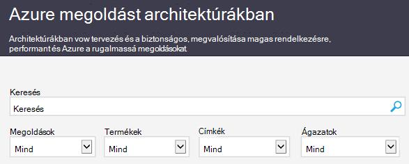 Az Azure Architecture Solutions webhelye