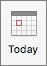 Az aktuális naptári nézet gomb