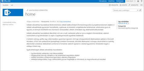 Vállalati wikiwebhely sablon