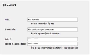 Outlook-beállítások