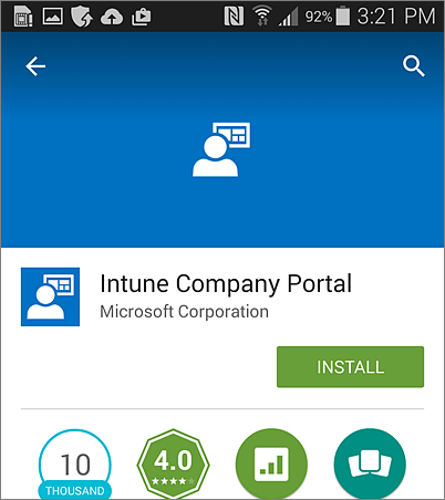 Install Intune Company Portal on Android