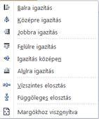 A Publisher 2010 objektumigazítási lehetőségei
